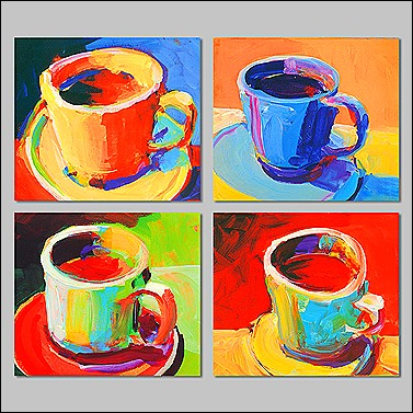 coffee cup a la warhol
