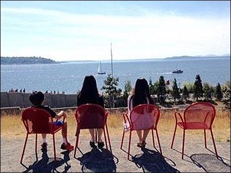 chairs overlooking Elliot Bay