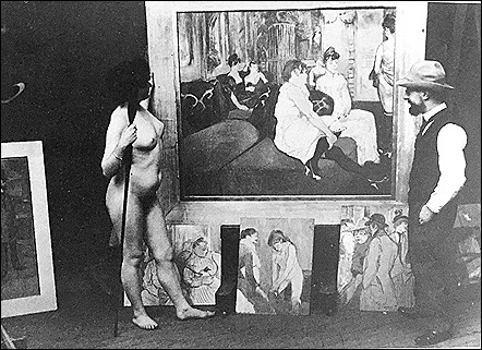 Toulouse Lautrec and model - 1902