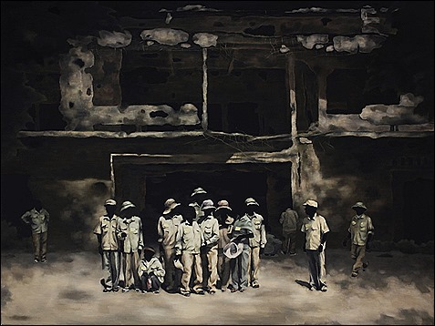 Untitled (The school in Quang Tri). 2013-15. Oil on canvas. 150x200cm.