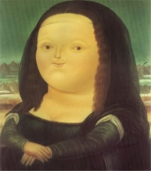 Pic 3 Mona-lisa by Fernando Botero