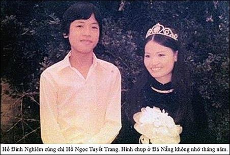 HDN wedding photo with chi Tuyet Trang