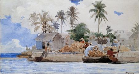 Winslow_Homer_-_Sponge_Fishermen,_Bahamas_(1885)