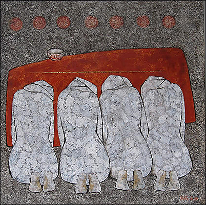 nguyen dinh dang - lacquer 03 - 100 x 100