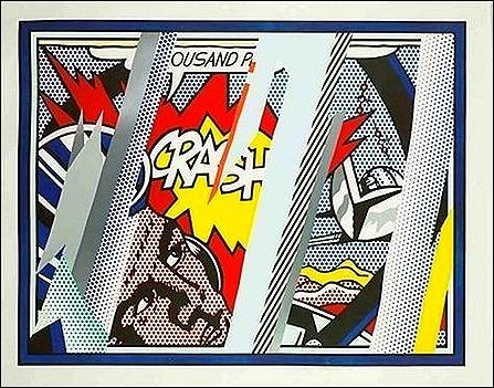 reflections on crash, lichtenstein 1990